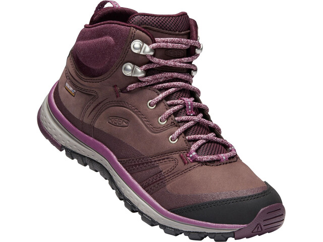 Keen Terradora Leather WP Chaussures Femme, peppercorn/wine tasting